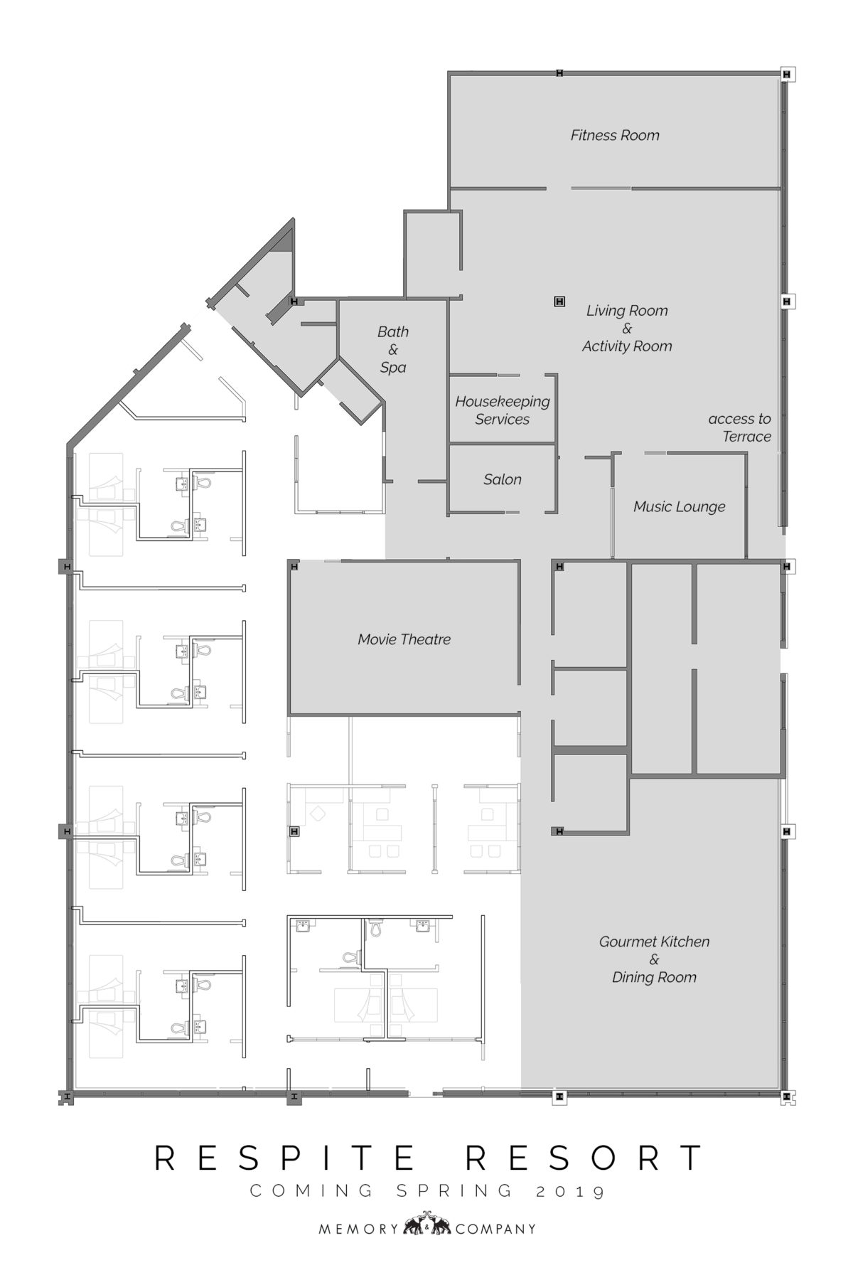 Memory & Company Respite Resort floor plan